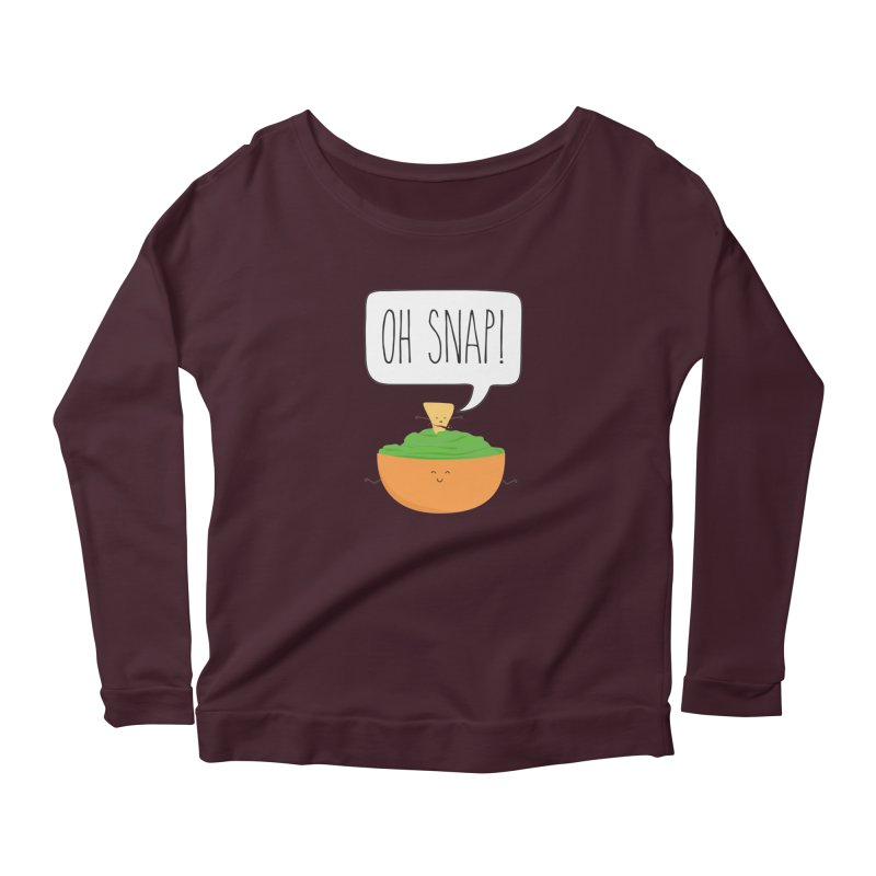 Oh Snap Women's Scoop Neck Longsleeve T-Shirt by CardyHarHar's Artist Shop