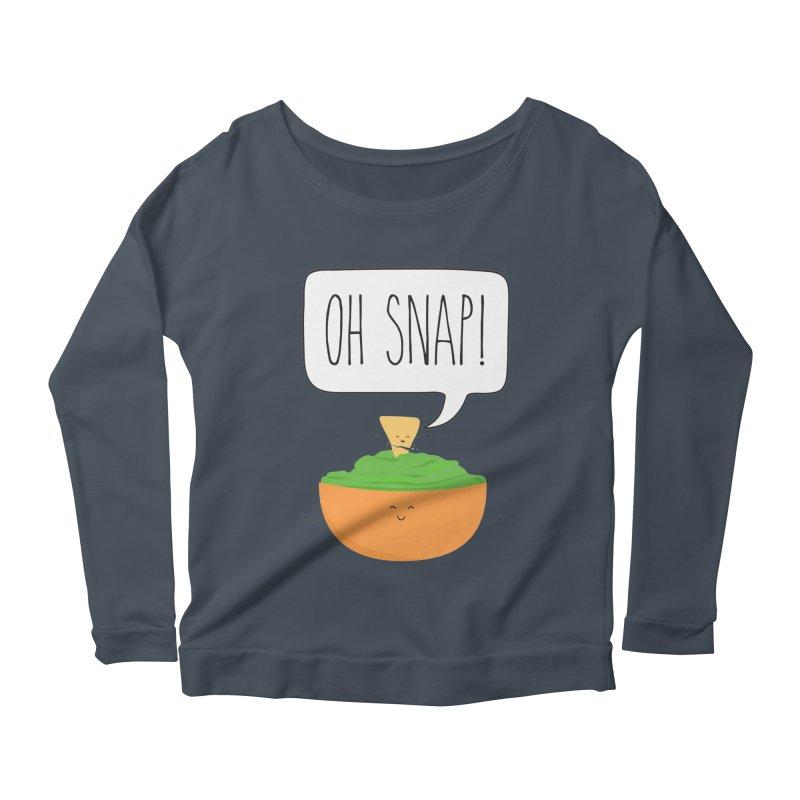 Oh Snap Women's Scoop Neck Longsleeve T-Shirt by CardyHarHar's Artist Shop