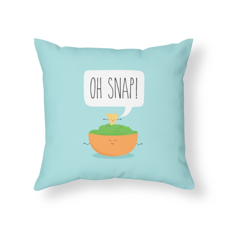 Oh Snap Home Throw Pillow by CardyHarHar's Artist Shop