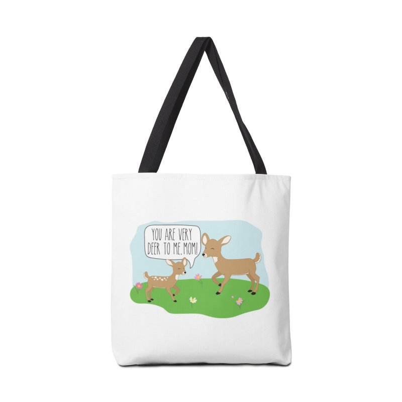 You Are Very Deer To Me, Mom! Accessories Tote Bag Bag by CardyHarHar's Artist Shop