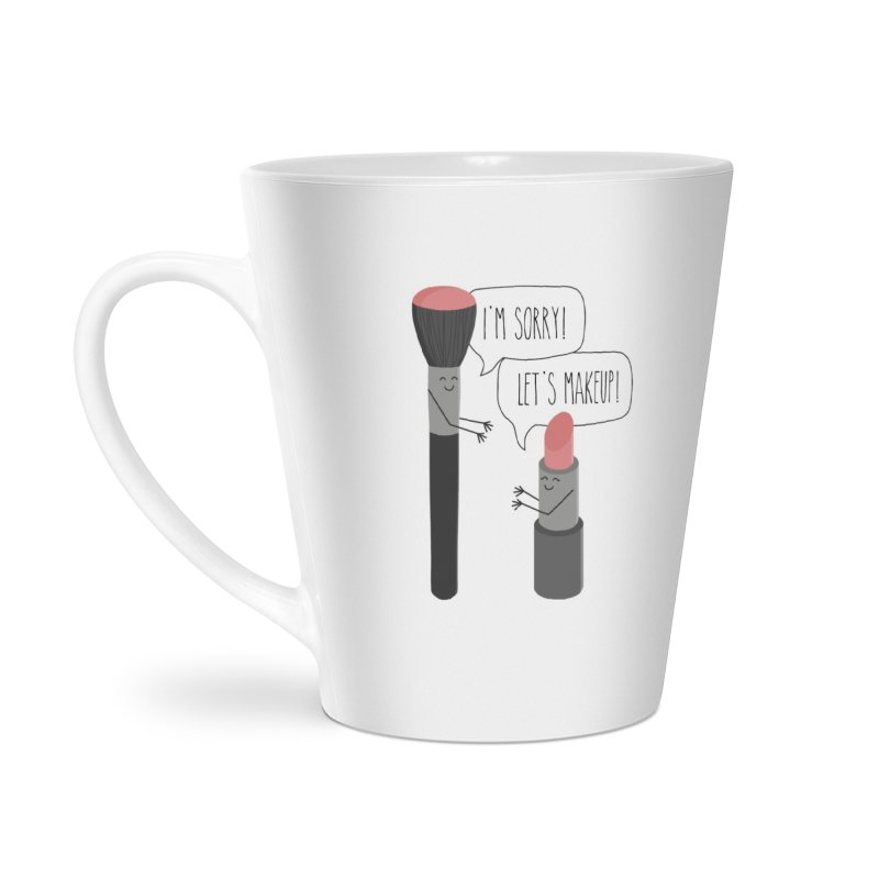 Let's Makeup Accessories Latte Mug by CardyHarHar's Artist Shop