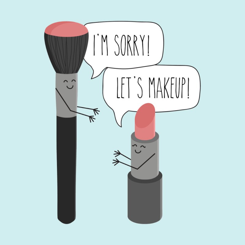 Let's Makeup Home Fine Art Print by CardyHarHar's Artist Shop