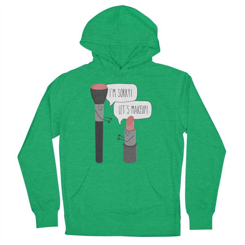 Let's Makeup Women's French Terry Pullover Hoody by CardyHarHar's Artist Shop