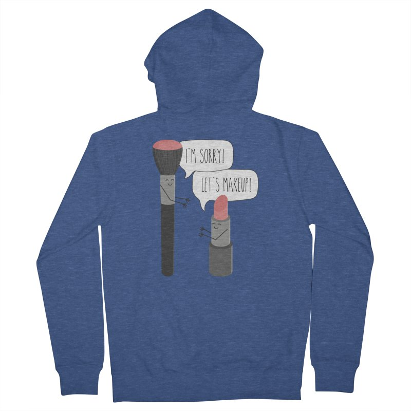 Let's Makeup Men's French Terry Zip-Up Hoody by CardyHarHar's Artist Shop