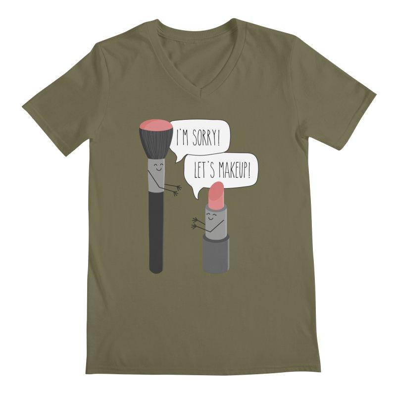 Let's Makeup Men's Regular V-Neck by CardyHarHar's Artist Shop