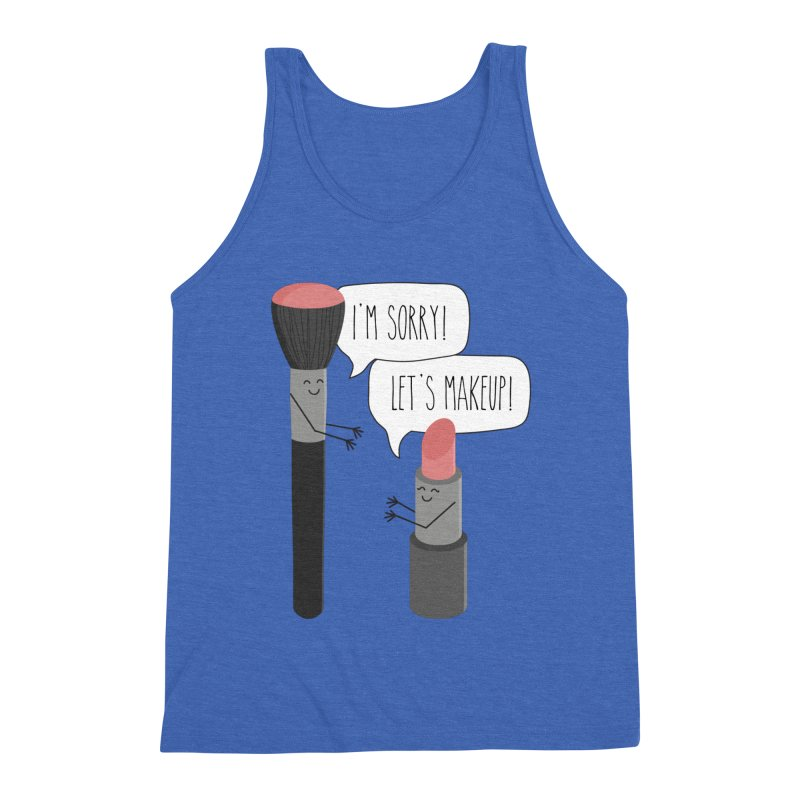 Let's Makeup Men's Triblend Tank by CardyHarHar's Artist Shop