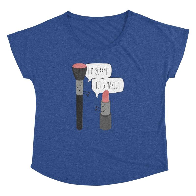 Let's Makeup Women's Dolman Scoop Neck by CardyHarHar's Artist Shop