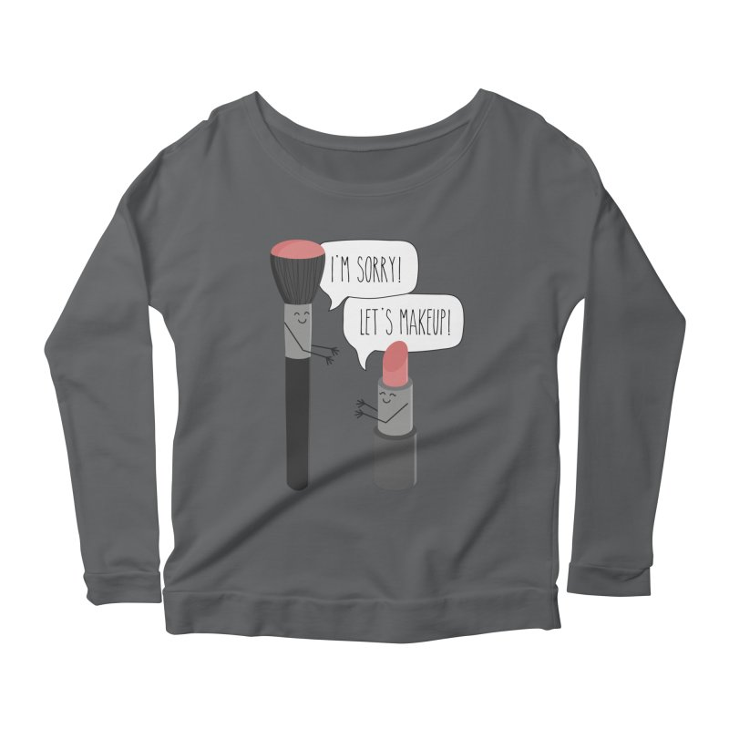 Let's Makeup Women's Scoop Neck Longsleeve T-Shirt by CardyHarHar's Artist Shop
