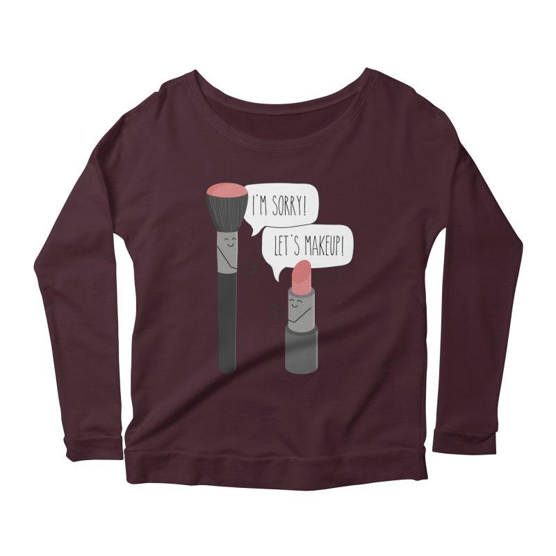 Let's Makeup Women's Scoop Neck Longsleeve T-Shirt by CardyHarHar's Artist Shop