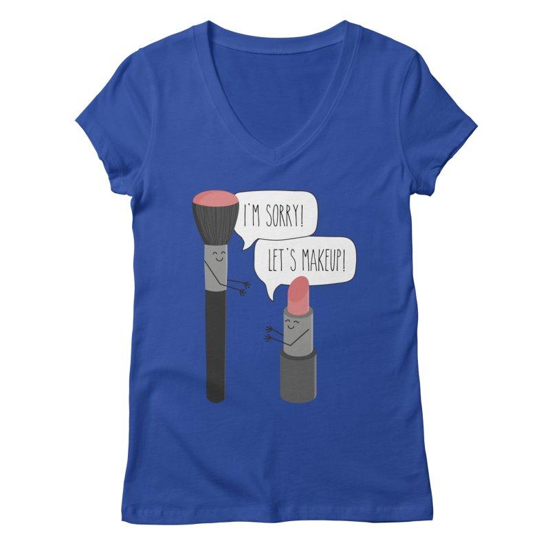 Let's Makeup Women's Regular V-Neck by CardyHarHar's Artist Shop
