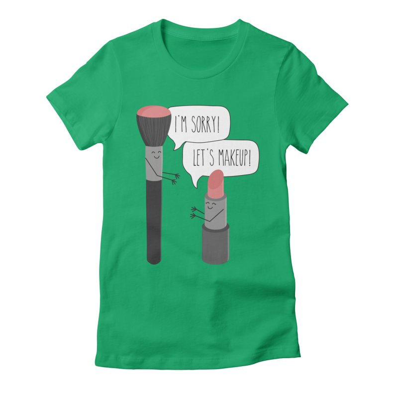 Let's Makeup Women's Fitted T-Shirt by CardyHarHar's Artist Shop