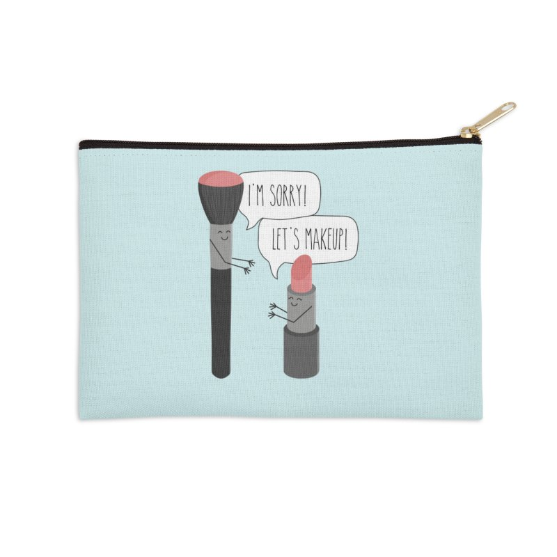 Let's Makeup Accessories Zip Pouch by CardyHarHar's Artist Shop