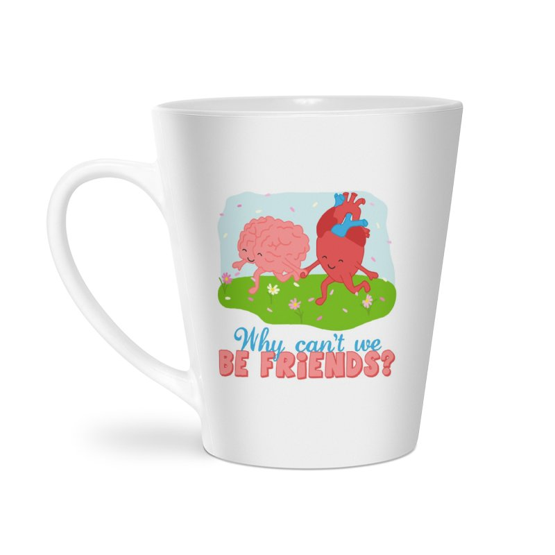 Why Can't We Be Friends Accessories Latte Mug by CardyHarHar's Artist Shop