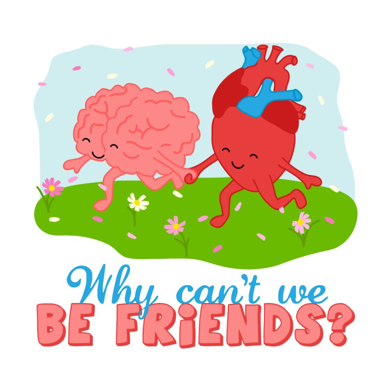 Why Can't We Be Friends Home Mounted Acrylic Print by CardyHarHar's Artist Shop
