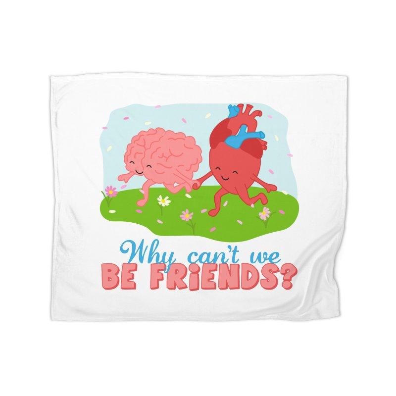 Why Can't We Be Friends Home Fleece Blanket Blanket by CardyHarHar's Artist Shop