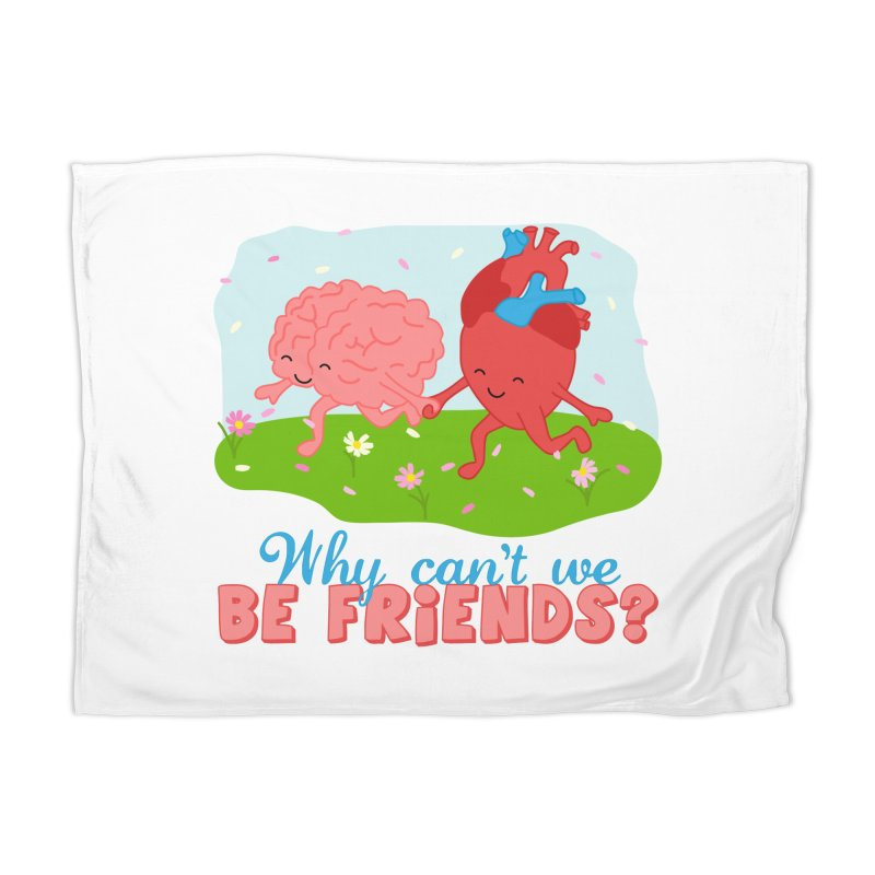 Why Can't We Be Friends Home Blanket by CardyHarHar's Artist Shop