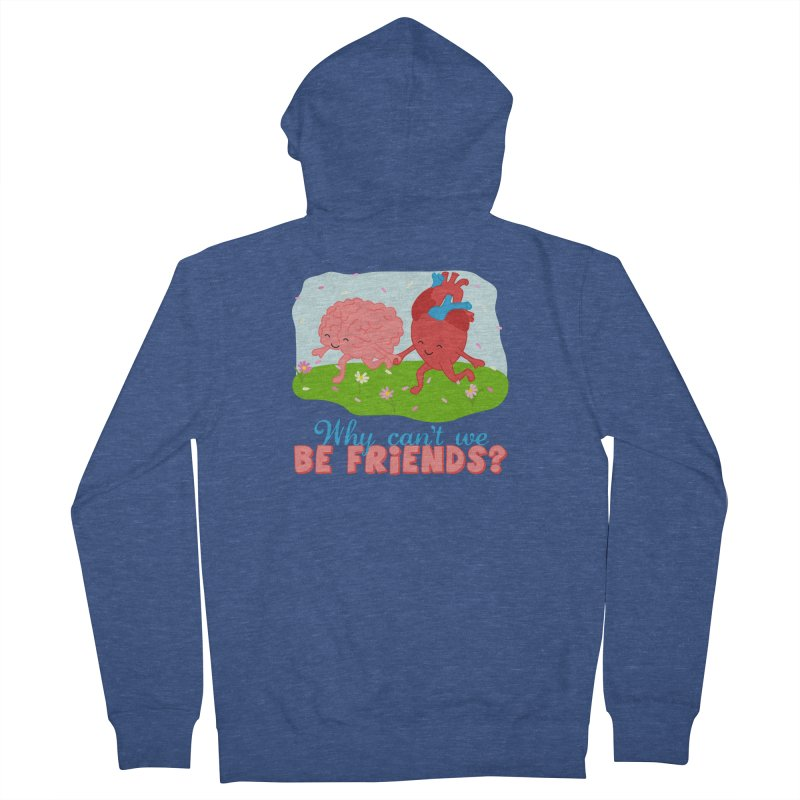 Why Can't We Be Friends Men's Zip-Up Hoody by CardyHarHar's Artist Shop