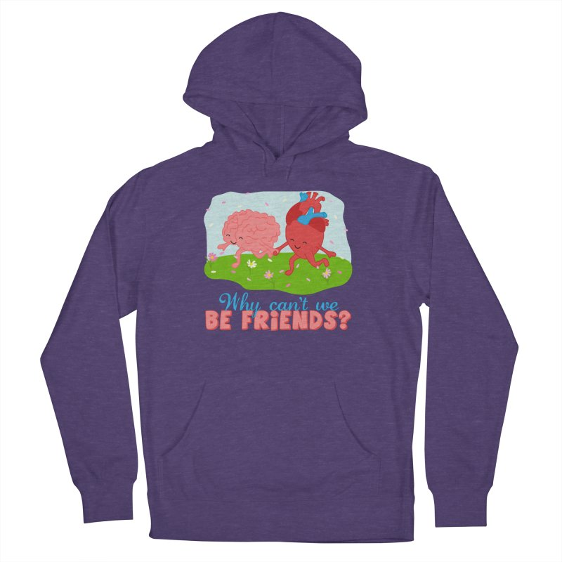 Why Can't We Be Friends Men's Pullover Hoody by CardyHarHar's Artist Shop