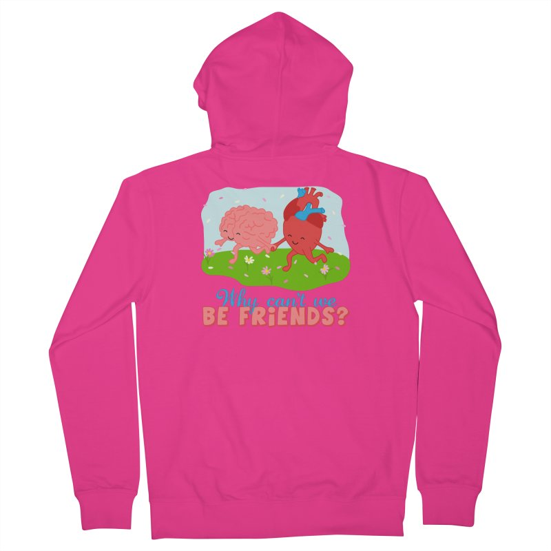 Why Can't We Be Friends Men's French Terry Zip-Up Hoody by CardyHarHar's Artist Shop