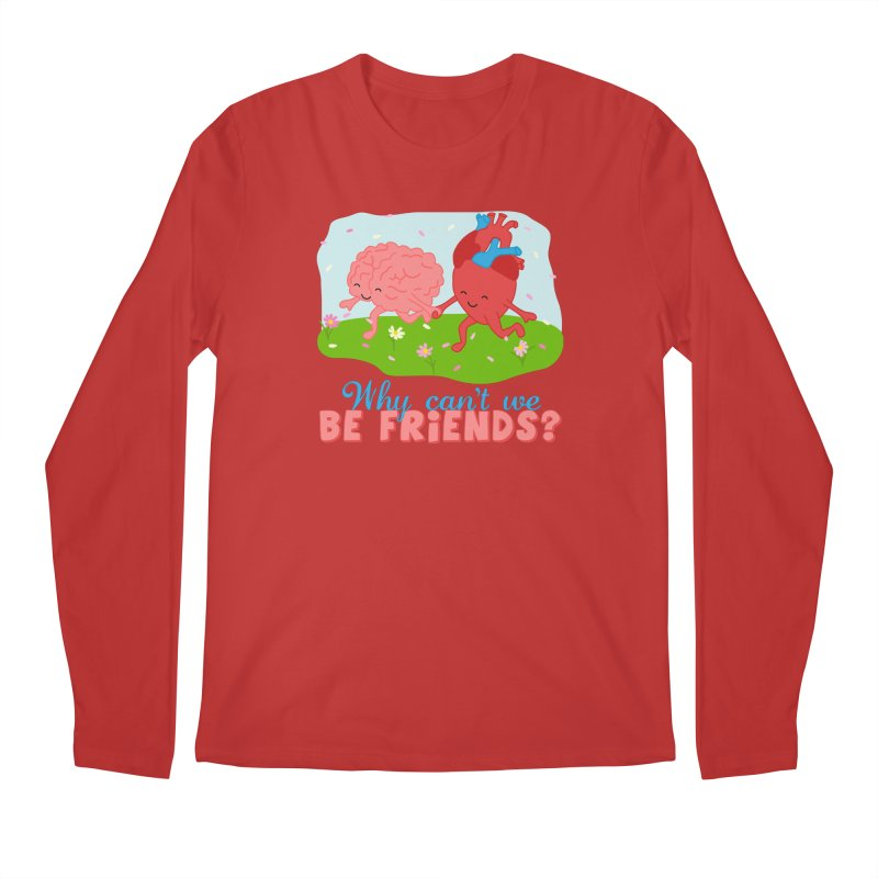 Why Can't We Be Friends Men's Regular Longsleeve T-Shirt by CardyHarHar's Artist Shop