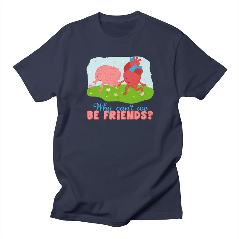 Why Can't We Be Friends Men's Regular T-Shirt by CardyHarHar's Artist Shop