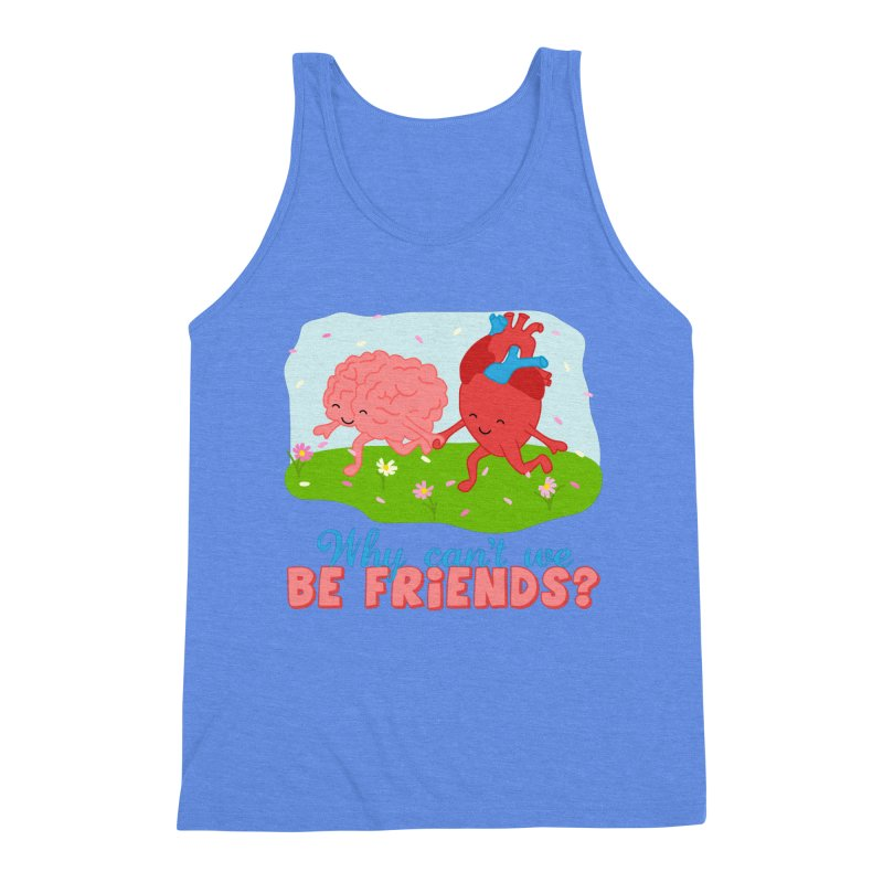 Why Can't We Be Friends Men's Triblend Tank by CardyHarHar's Artist Shop