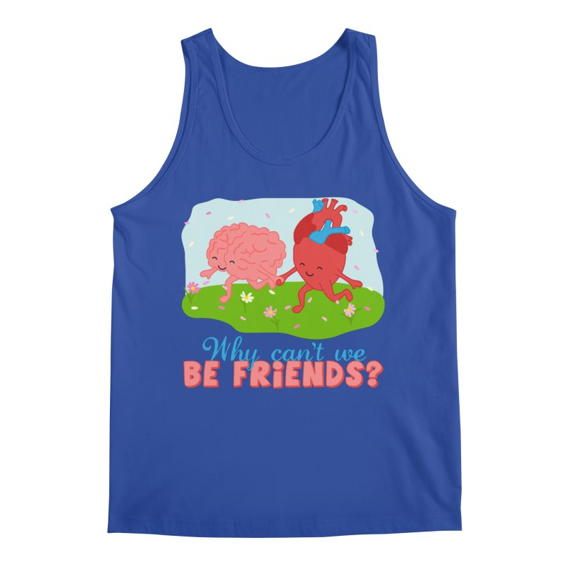 Why Can't We Be Friends Men's Regular Tank by CardyHarHar's Artist Shop