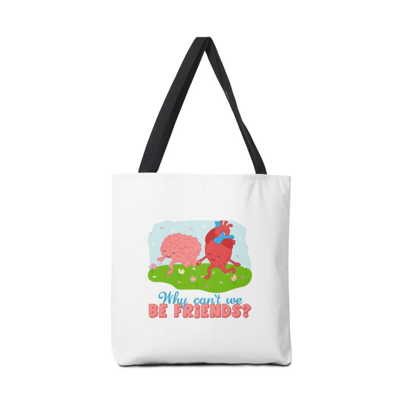 Why Can't We Be Friends Accessories Tote Bag Bag by CardyHarHar's Artist Shop