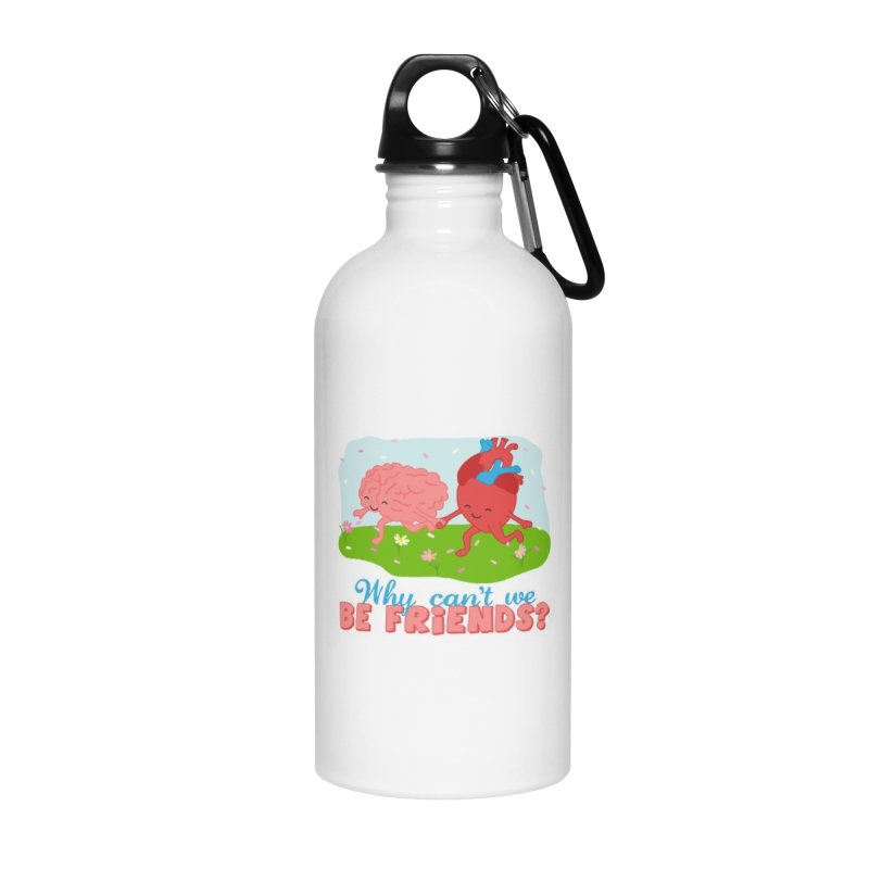 Why Can't We Be Friends Accessories Water Bottle by CardyHarHar's Artist Shop