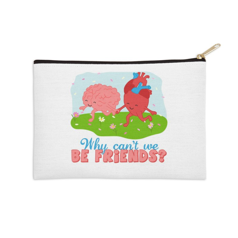 Why Can't We Be Friends Accessories Zip Pouch by CardyHarHar's Artist Shop