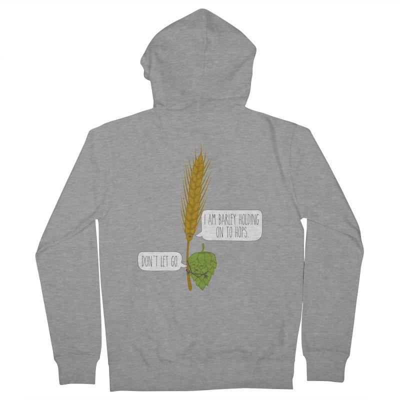 Barley and Hops Men's Zip-Up Hoody by CardyHarHar's Artist Shop