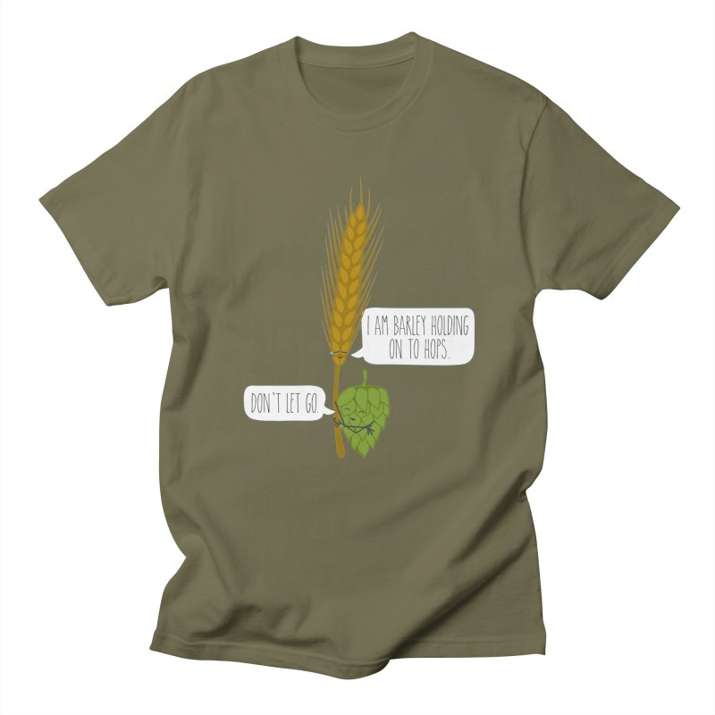 Barley and Hops Men's T-Shirt by CardyHarHar's Artist Shop