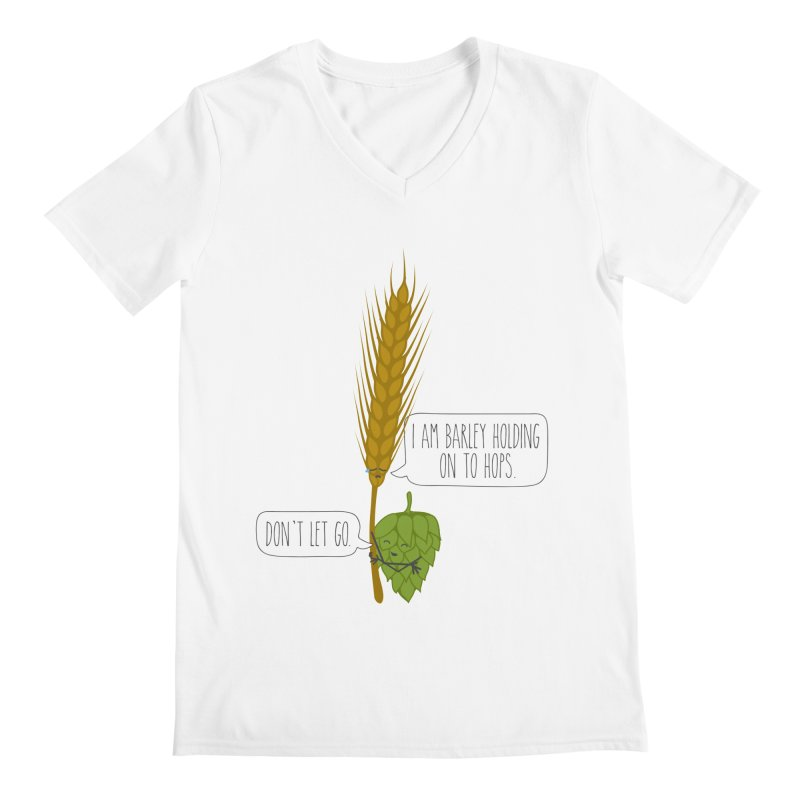 Barley and Hops Men's V-Neck by CardyHarHar's Artist Shop