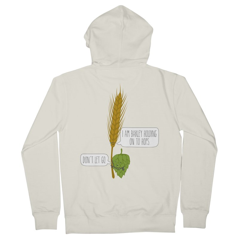 Barley and Hops Men's French Terry Zip-Up Hoody by CardyHarHar's Artist Shop