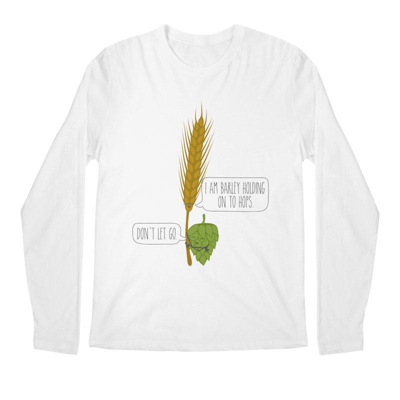 Barley and Hops Men's Regular Longsleeve T-Shirt by CardyHarHar's Artist Shop