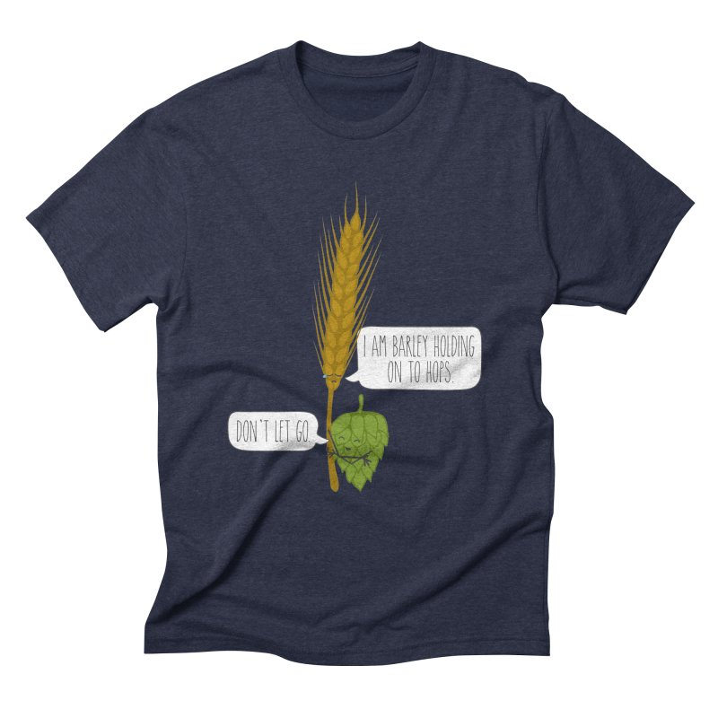 Barley and Hops Men's Triblend T-Shirt by CardyHarHar's Artist Shop