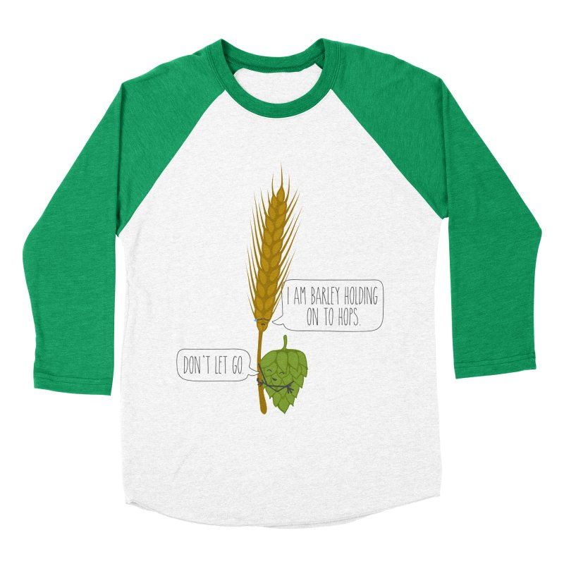 Barley and Hops Women's Baseball Triblend Longsleeve T-Shirt by CardyHarHar's Artist Shop