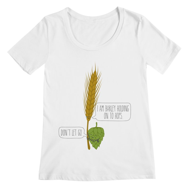 Barley and Hops Women's Regular Scoop Neck by CardyHarHar's Artist Shop