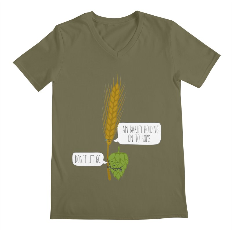 Barley and Hops Men's Regular V-Neck by CardyHarHar's Artist Shop