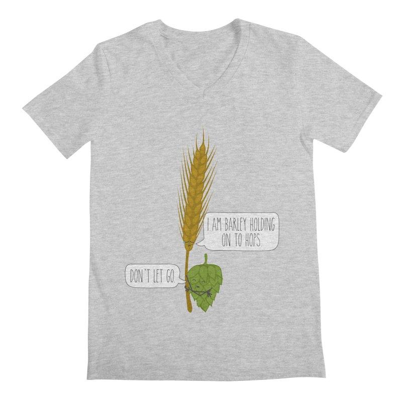 Barley and Hops Men's Regular V-Neck by CardyHarHar's Artist Shop