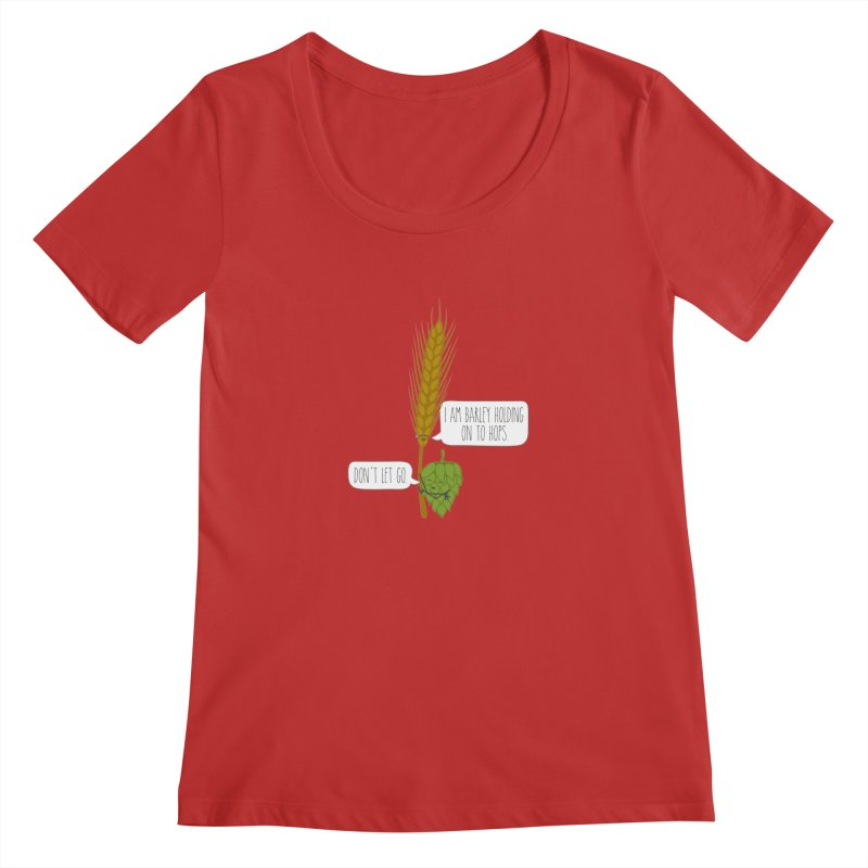 Barley and Hops Women's Scoop Neck by CardyHarHar's Artist Shop