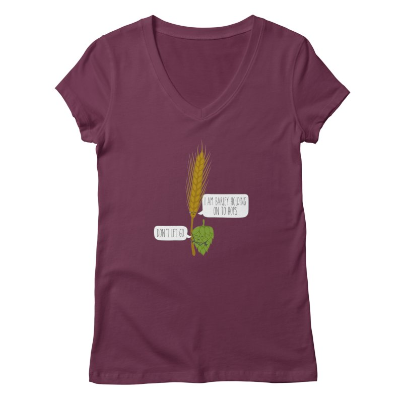 Barley and Hops Women's V-Neck by CardyHarHar's Artist Shop