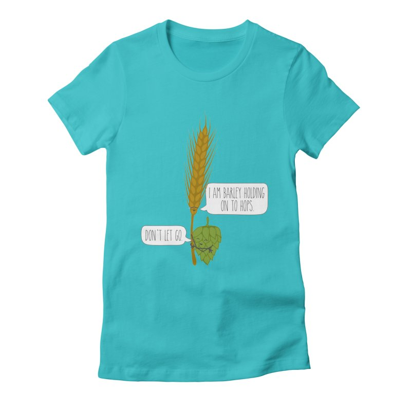 Barley and Hops Women's Fitted T-Shirt by CardyHarHar's Artist Shop