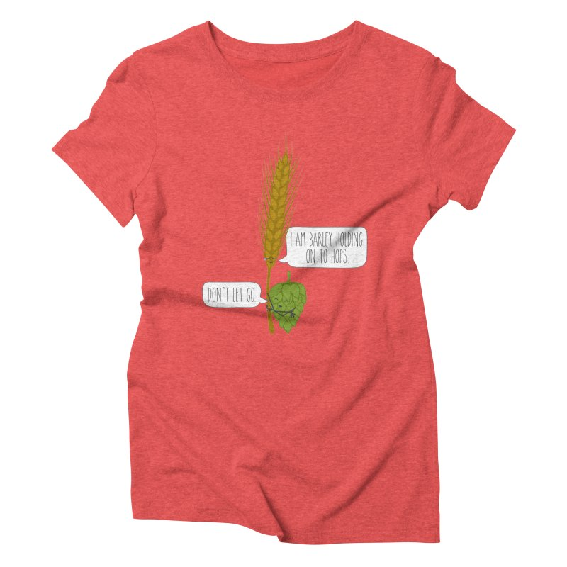 Barley and Hops Women's Triblend T-Shirt by CardyHarHar's Artist Shop