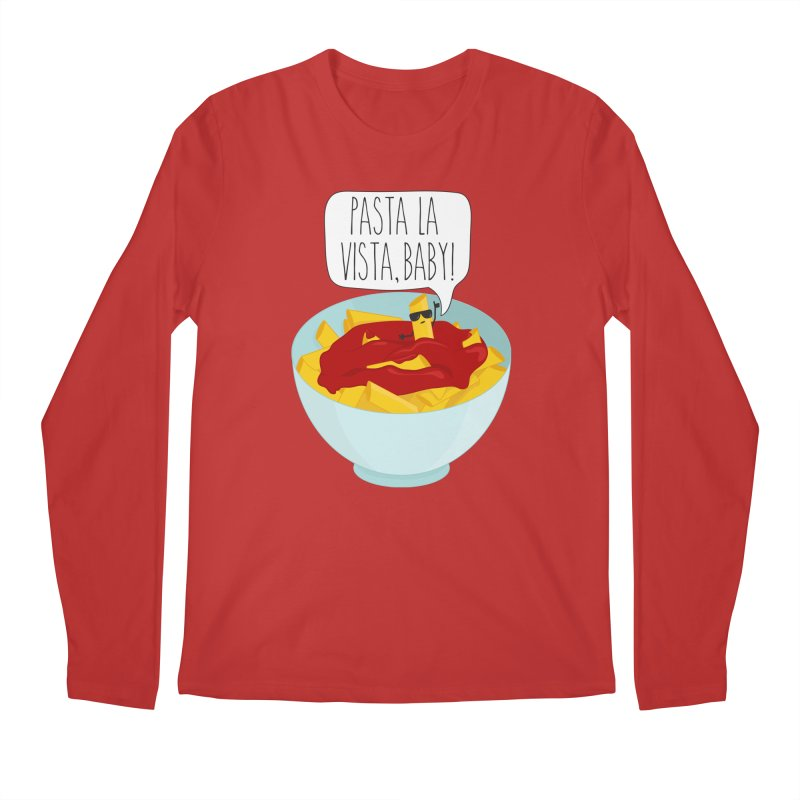 Pasta La Vista, Baby Men's Longsleeve T-Shirt by CardyHarHar's Artist Shop