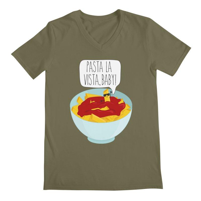 Pasta La Vista, Baby Men's Regular V-Neck by CardyHarHar's Artist Shop
