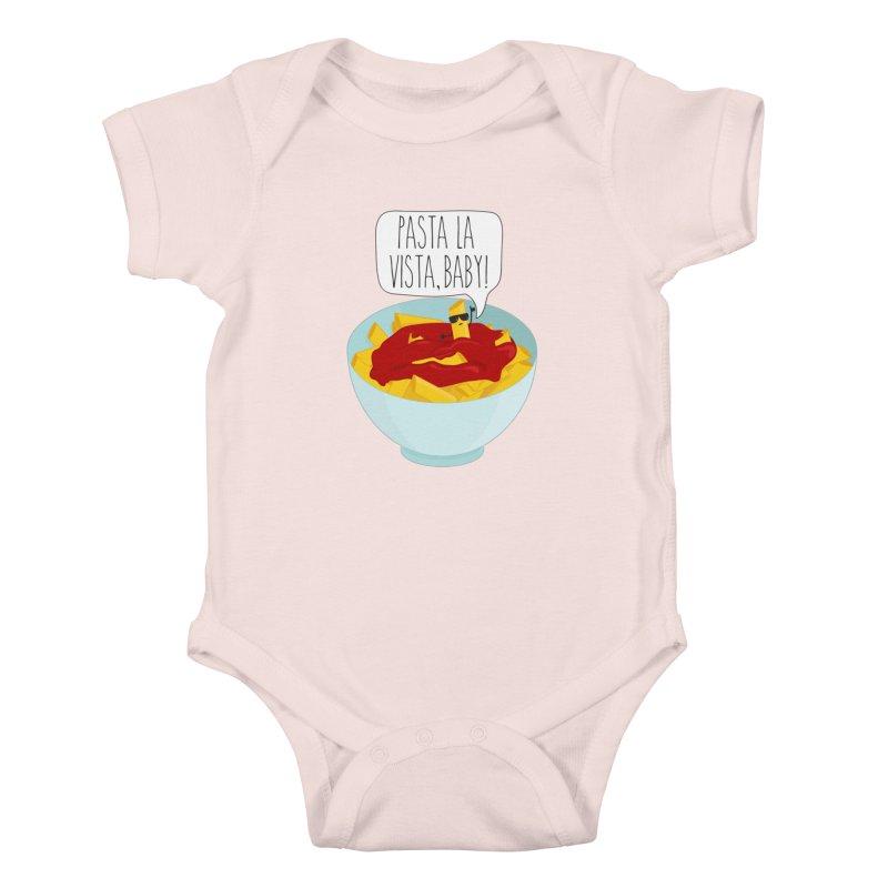 Pasta La Vista, Baby Kids Baby Bodysuit by CardyHarHar's Artist Shop