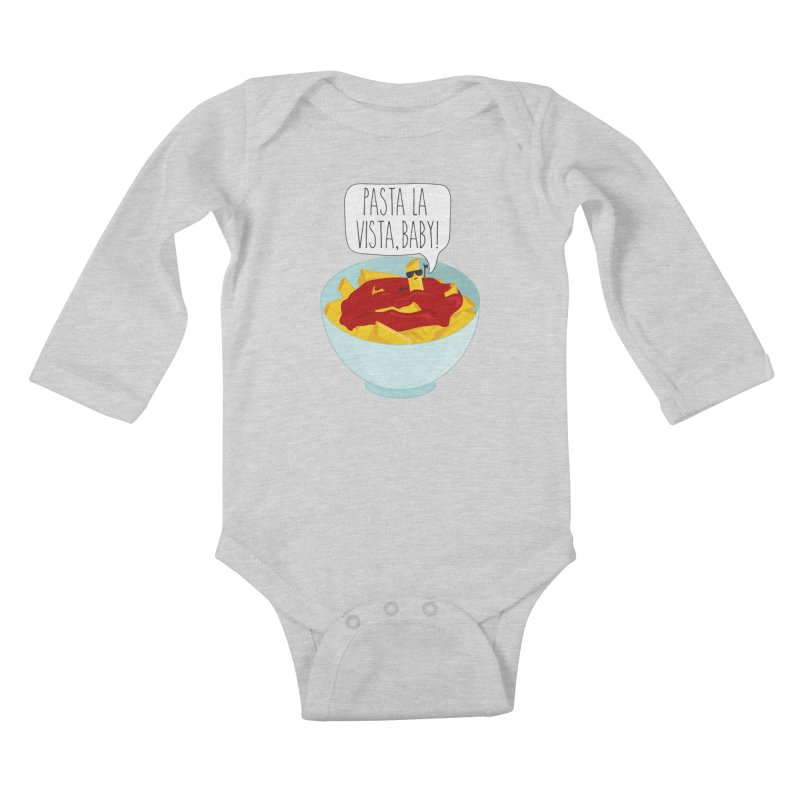 Pasta La Vista, Baby Kids Baby Longsleeve Bodysuit by CardyHarHar's Artist Shop