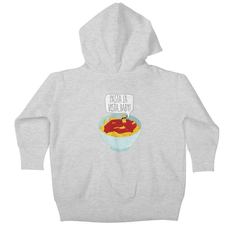 Pasta La Vista, Baby Kids Baby Zip-Up Hoody by CardyHarHar's Artist Shop
