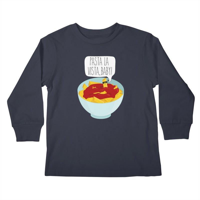 Pasta La Vista, Baby Kids Longsleeve T-Shirt by CardyHarHar's Artist Shop
